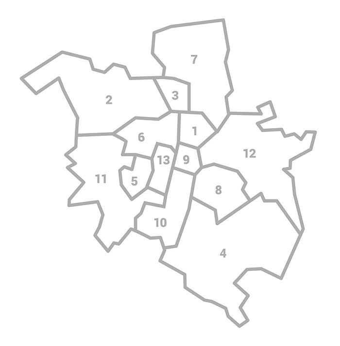 Mapa rejonów